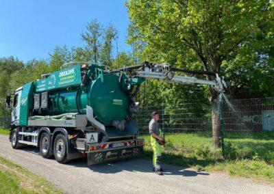 Mobile Bewässerung mit unseren Fahrzeugen