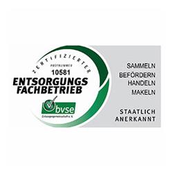 Logo bvse Entsorgungsfachbetrieb