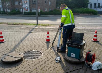 Ölbascheider an einer Tankstelle in Krefeld
