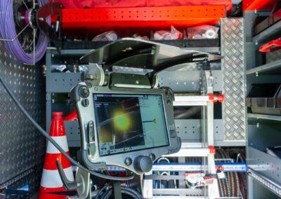 Kameratechnik für die Kanalreinigung an der A560