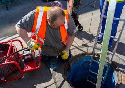 Kanalsanierung - Beseitigung von Schäden mitteles Inliner-Verfahren.