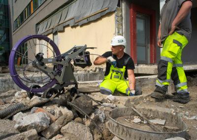 Kanalortung auf einer Baustelle in Hagen