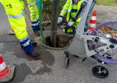 Kanalreinigung mit dem Kameraystem der Firma Kummert in Leverkusen