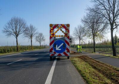 Warntafelanhänger für die Kanalreinigung bei Rheinbach