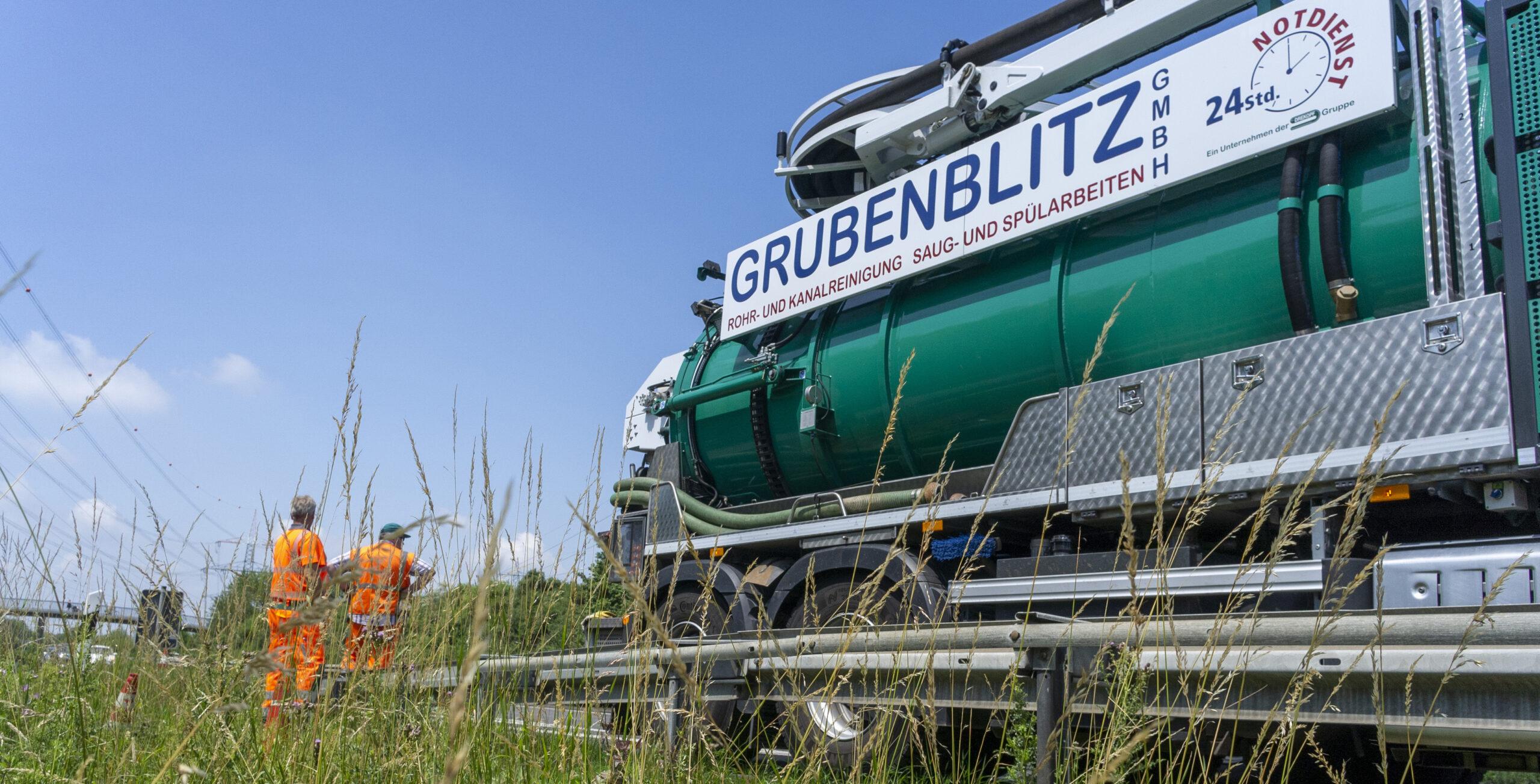 Kanalreingung an der A560 Drekopf und Grubenblitz