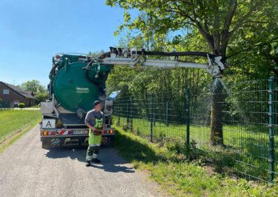 Mobile Bewässerung mit Bewässerungssäcken