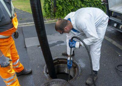 Flüssigkeitsentsorgung - Pumpenarbeit