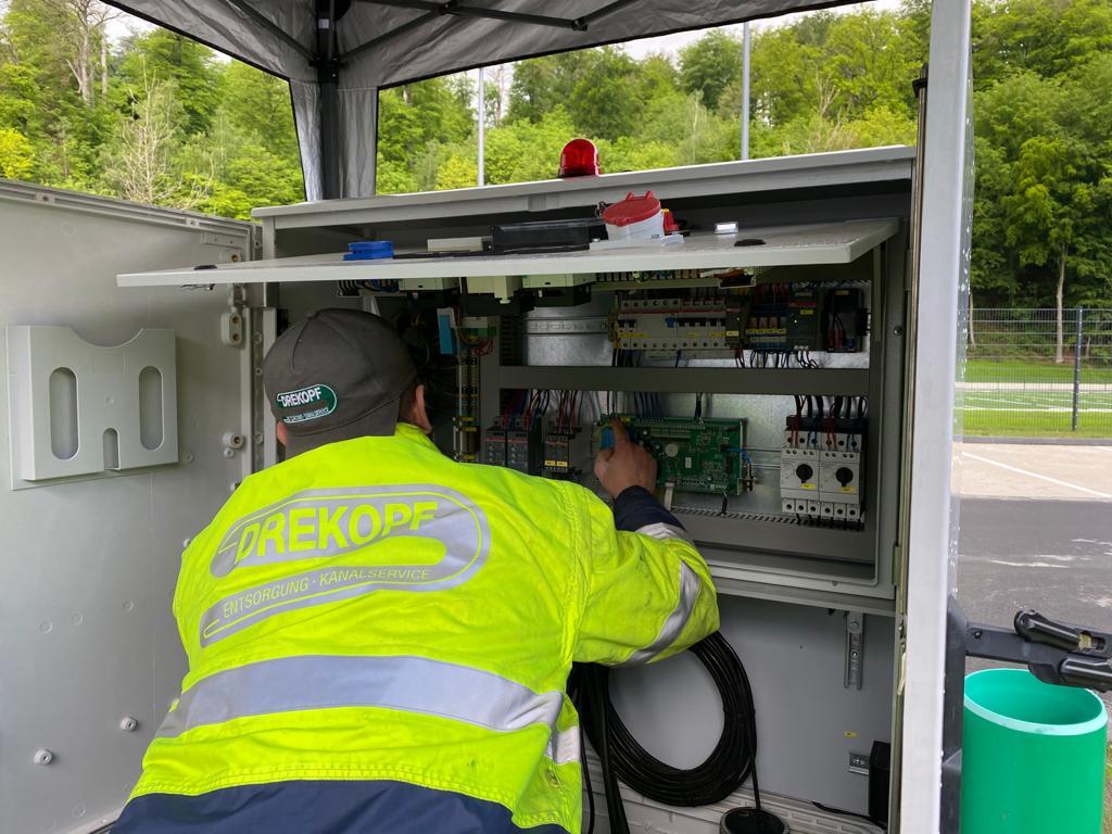 Inbetriebnahme einer Pumpstation