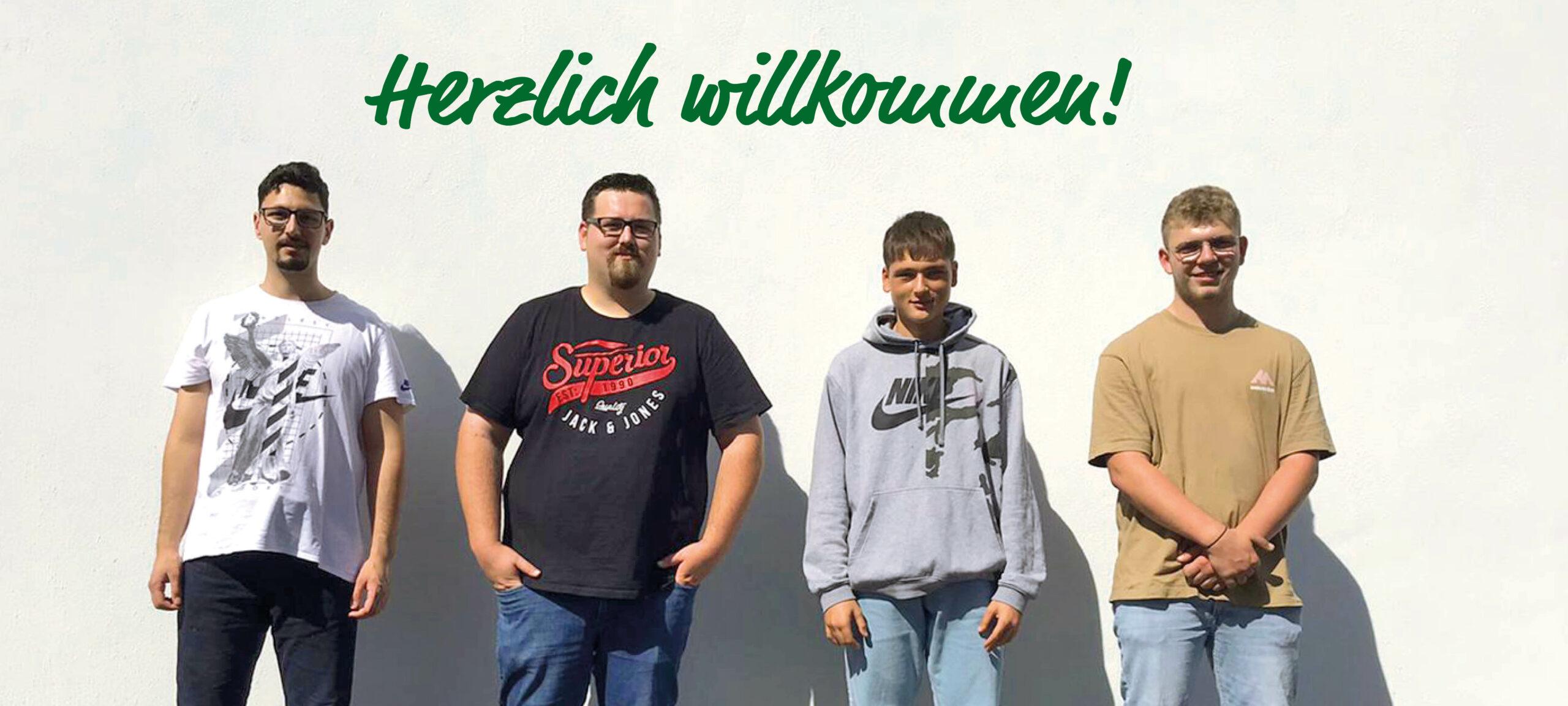 Vier neue Auszubildende für Grubenblitz und Drekopf