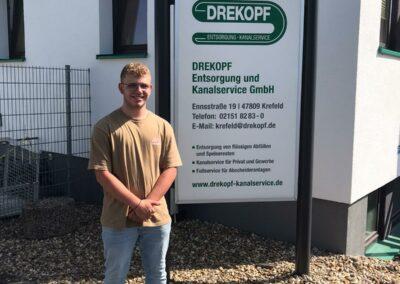 Azubi Jan Stepholt für die Firma DREKOPF