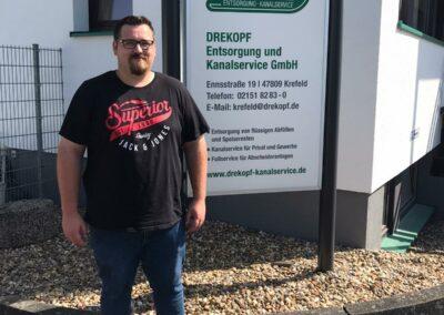 Azubi Maximilian Kauertz für die Firma DREKOPF